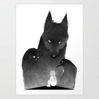 guardians Art Prints featuring Guardians by anialewandowska
