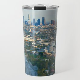 Los Angeles Skyline and Los Angeles Basin Panorama Travel Mug