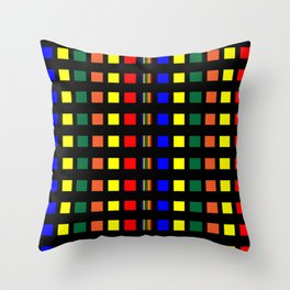 Strips of Color Throw Pillow