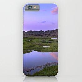 Virgin lagoons. Sierra Nevada National park. At sunset iPhone Case