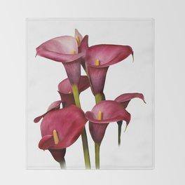 Purple Calla Lilies Throw Blanket