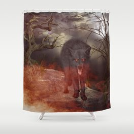 Awesome wolf Shower Curtain