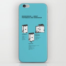 Bookbinding – About Paperback and Hardcover (in English) iPhone Skin