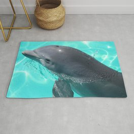 Baby Dolphin Profile Rug