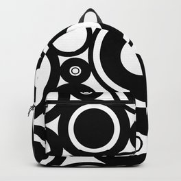 Retro Black White Circles Pop Art Backpack