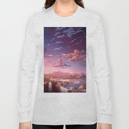 Sunset Paradise with Clouds Long Sleeve T-shirt