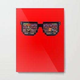 Retro Glasses - KOMBAT edition Metal Print