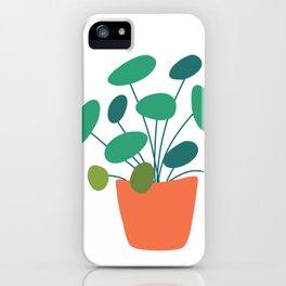 Pilea Plant Illustration // Hand-drawn Modern Organic Botanical iPhone Case