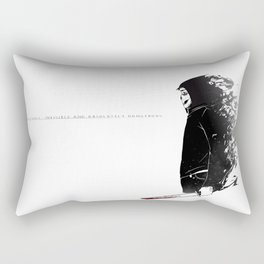 why do they call him ghost? Rectangular Pillow