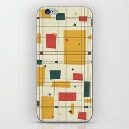 Mid-Century Modern (gold) iPhone Skin