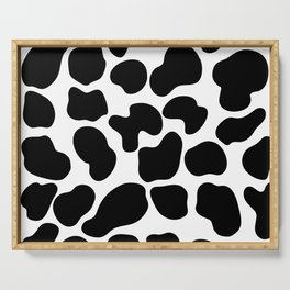 Cow Print Serving Tray