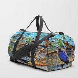 Blue Heron Duffle Bag