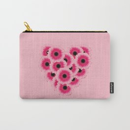 Heart Gerbera pink - Pink I Carry-All Pouch