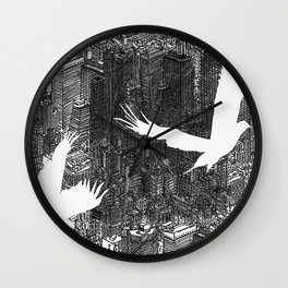 Ecotone (black & white) Wall Clock