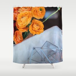 flower photography by Fabio Issao Shower Curtain