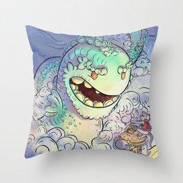 Sea Serpent Throw Pillow