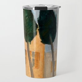 """Amedeo Modigliani """"Cypresses and Houses at Cagnes (Cyprès et maisons à Cagnes)"""" Travel Mug"""