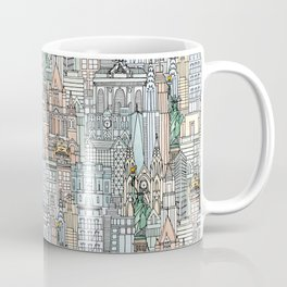 New York watercolor Coffee Mug