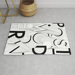 History of Art in Black and White. Postmodern Rug