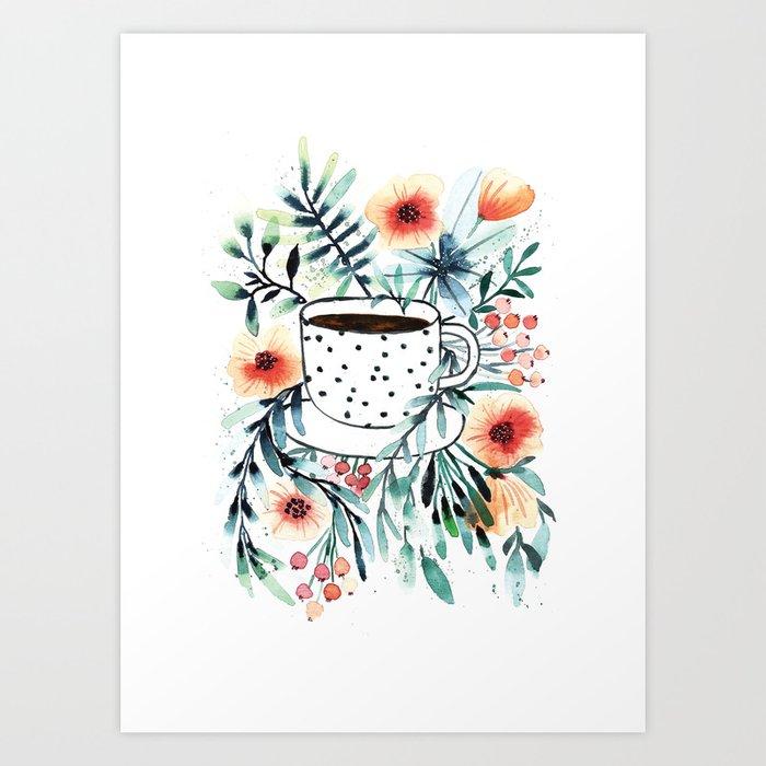 Coffee first Art Print