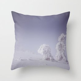 Snowy creatures - Landscape and Nature Photography Throw Pillow