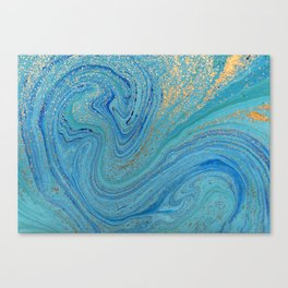 Turquoise Blue Watercolor Canvas Print