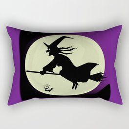 Witch and the Moon Rectangular Pillow