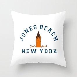 Jones Beach - New York. Throw Pillow