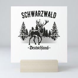Schwabe Schwarzwald Deutschland Hirsch Wald Mini Art Print