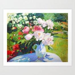 In the summer garden Art Print