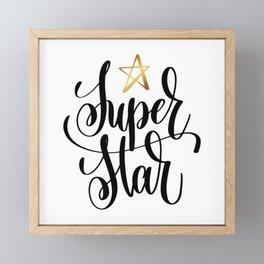 Super Star Framed Mini Art Print