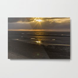 Storm over The Wash Metal Print