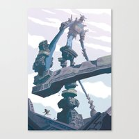 shadow of the colossus Canvas Prints featuring Shadow of the Colossus  by Felo