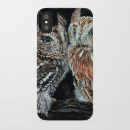 young love on a starry night - screech owls iPhone Case