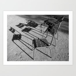 Paris: Chaises en promenade ... Art Print