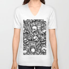 Root Of All Evil Unisex V-Neck