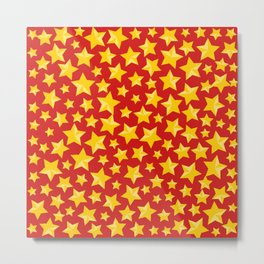 Shiny Stars Pattern Metal Print