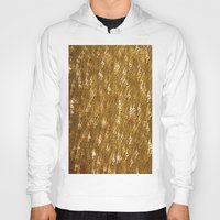 gold glitter Hoodies featuring Gold Glitter 1323 by Cecilie Karoline