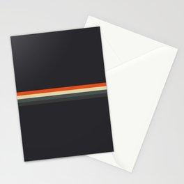 Fujitaka - Classic Dark Retro Stripes Stationery Cards