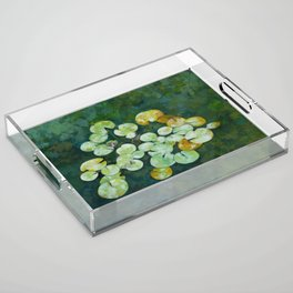 Tranquil lily pond Acrylic Tray