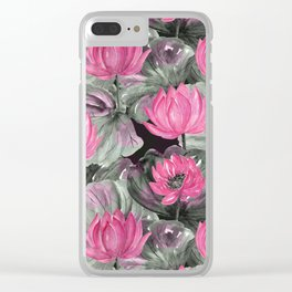 Water Lily. Clear iPhone Case