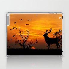 Sunset Deer Silhouette Laptop & iPad Skin