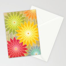Warm Flowers Stationery Cards