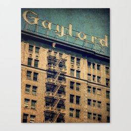 1924 Gaylord Apartments Vintage Neon Sign  Canvas Print