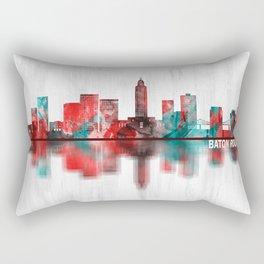 Baton Rouge Louisiana Skyline Rectangular Pillow
