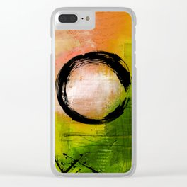 Enso No.MM13I by Kathy Morton Stanion Clear iPhone Case