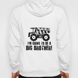 Big Brother Construction Dump Truck Pregnancy Announcment Personalized for Brother Sister Cousin Dis Hoody