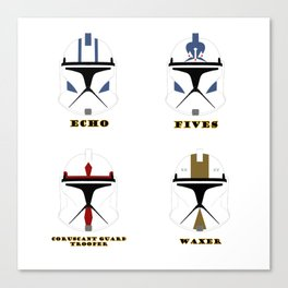 collection helmets clone wars troopers Canvas Print