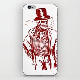 Skeleton gentlemen - Elegant zombie iPhone Skin