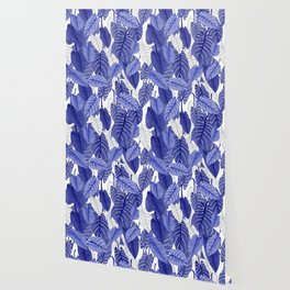 Lovely Leaves in Blue Shades - Spring Summer Mood - Blue and White #society6 #1 Wallpaper